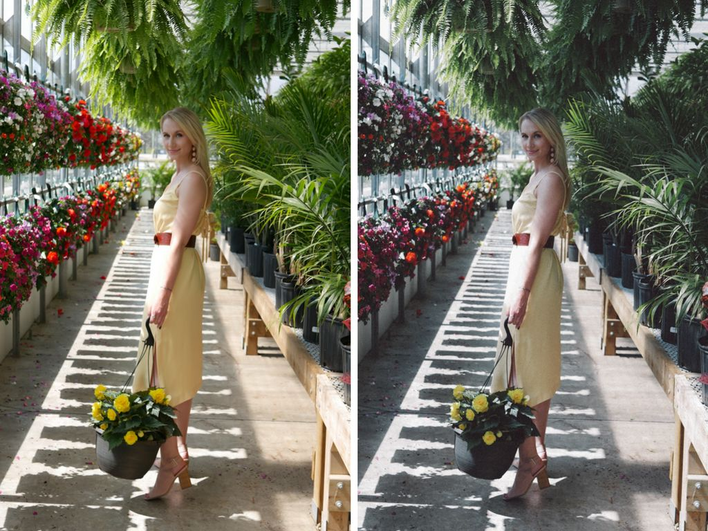 On the left is Weldon's original photo, and on the right is her photo editedto be much darker,...