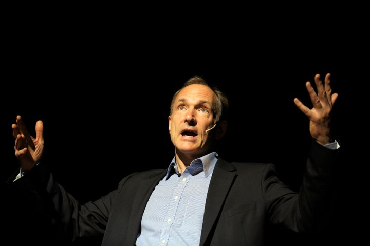 Tim Berners-Lee, founder of the World Wide Web and co-founder of the W3C, delivers a speech in 2011.
