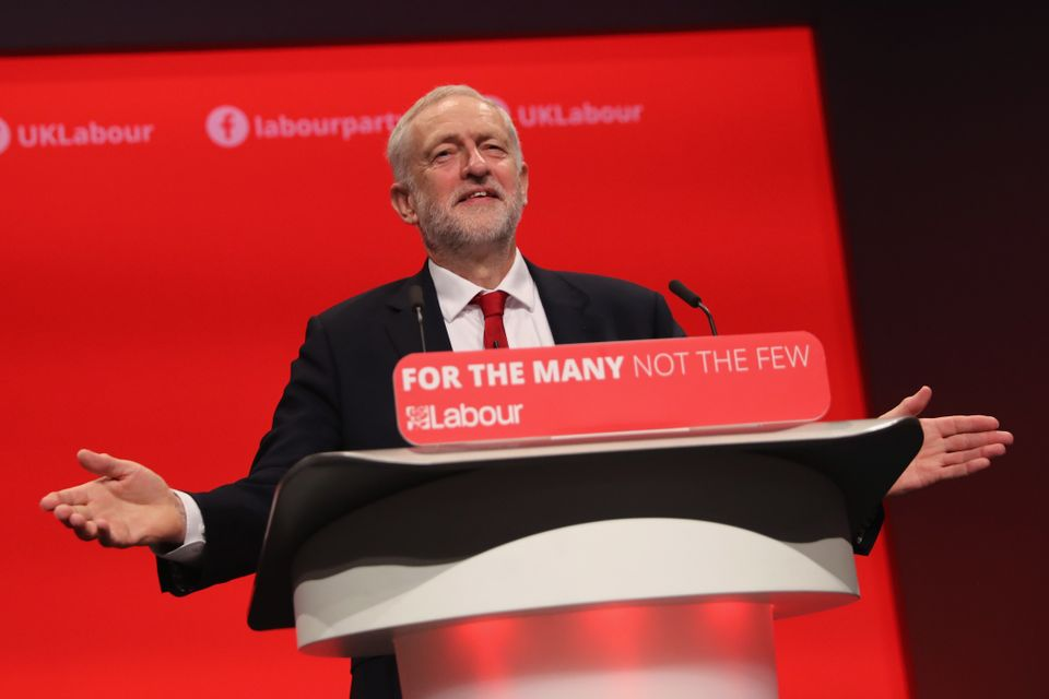 Jeremy Corbyn addresses delegates on the final day of the Labour Party conference in Brighton last