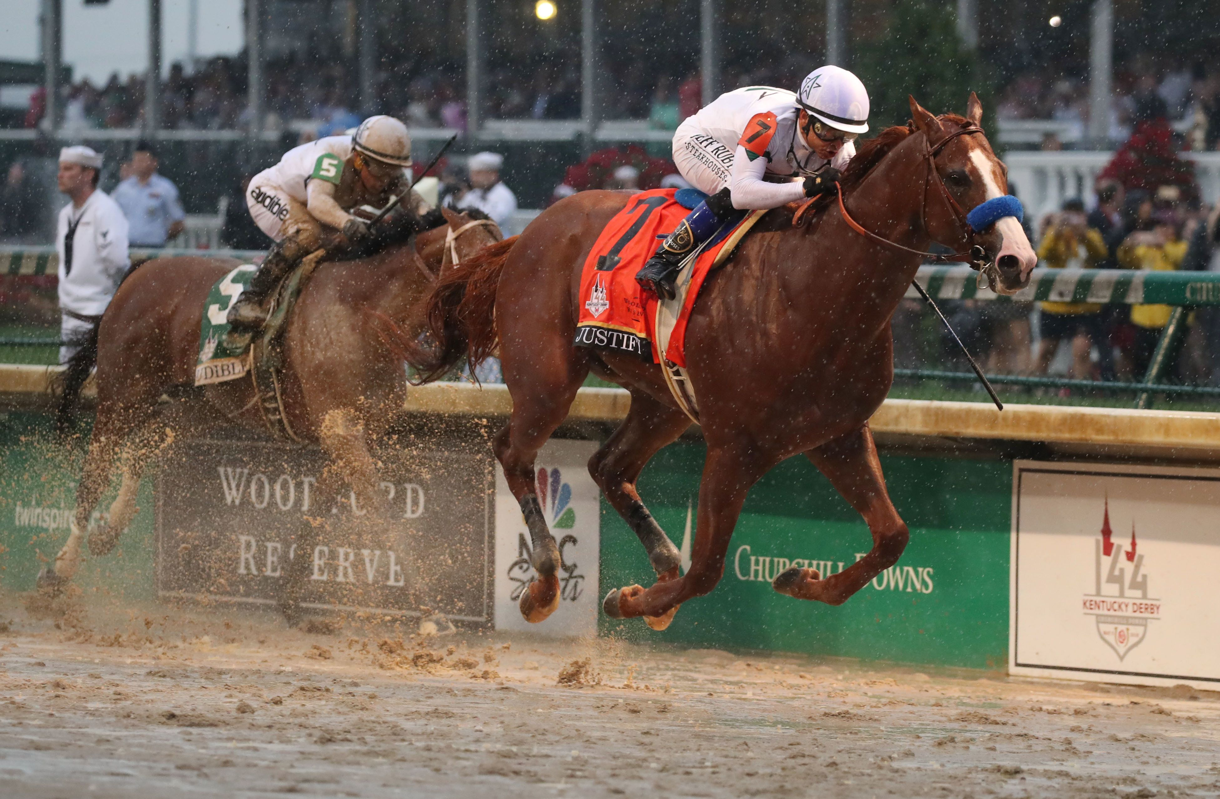 Justify takes the Kentucky Derby