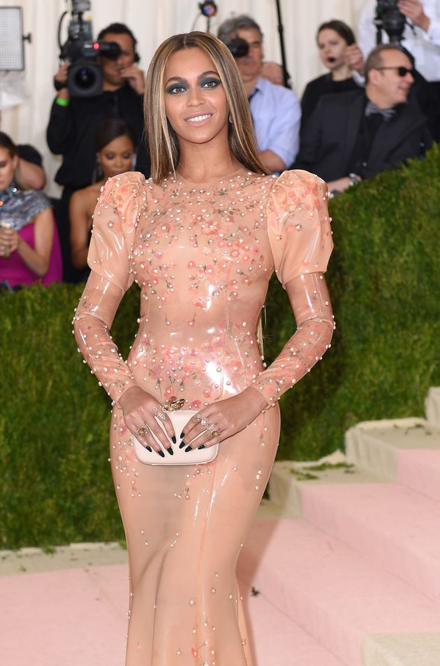 Beyonce arrives for the 'Manus x Machina: Fashion In An Age Of Technology' Costume Institute Gala at...