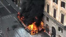 Έκρηξη λεωφορείου στο κέντρο της