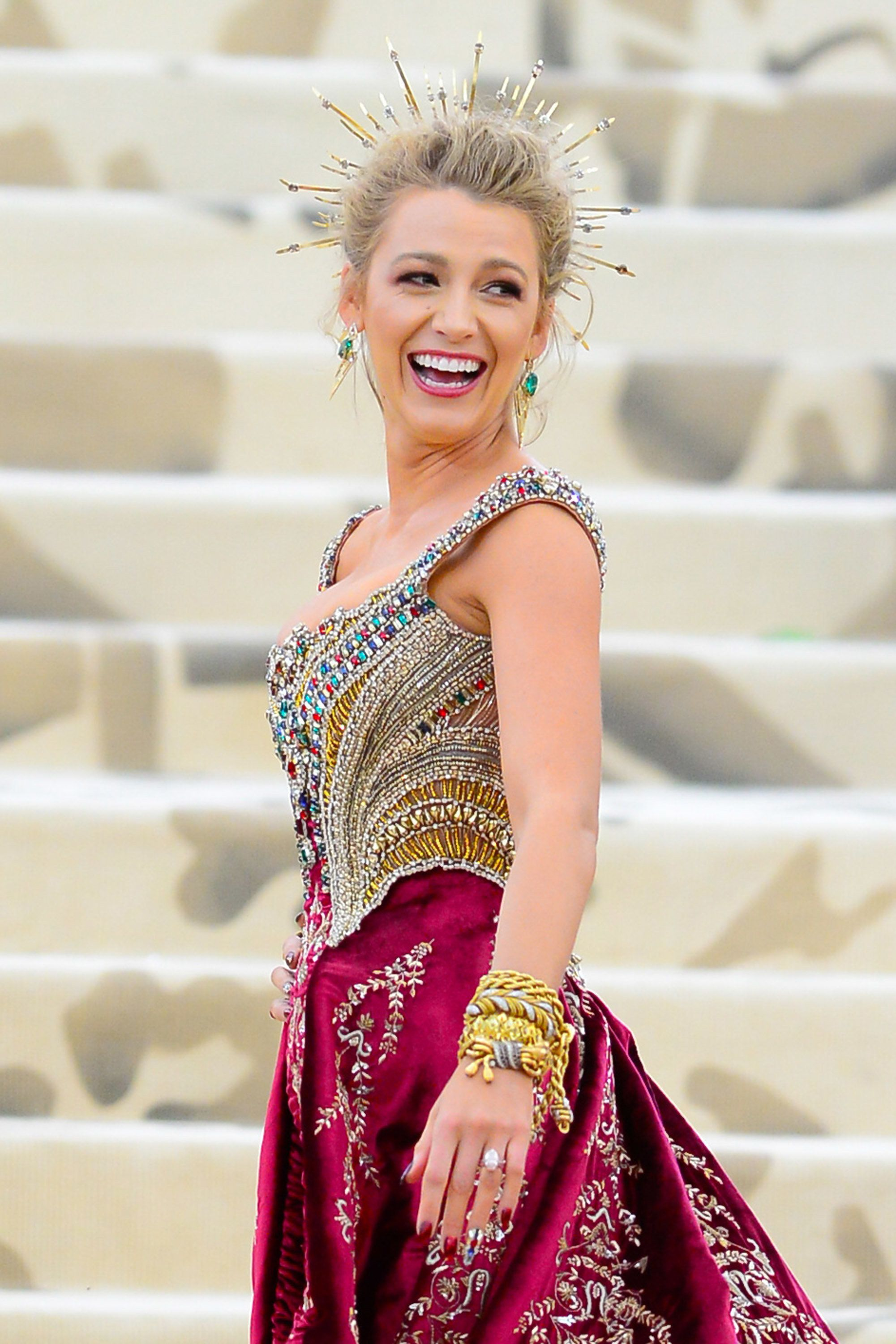 NEW YORK, NY - MAY 07:  Blake Lively  attends the Heavenly Bodies: Fashion & The Catholic Imagination Costume Institute Gala at The Metropolitan Museum of Ar at  on May 7, 2018 in New York City.  (Photo by Raymond Hall/GC Images)