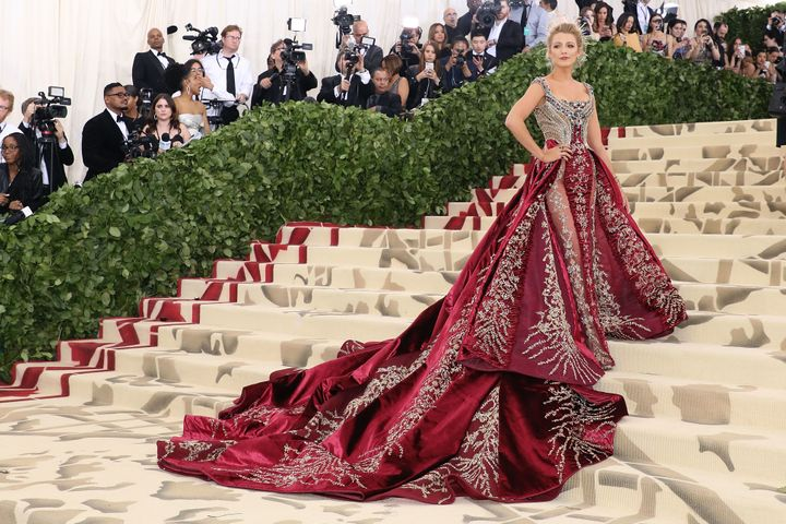 Blake Lively attends the Met Gala.