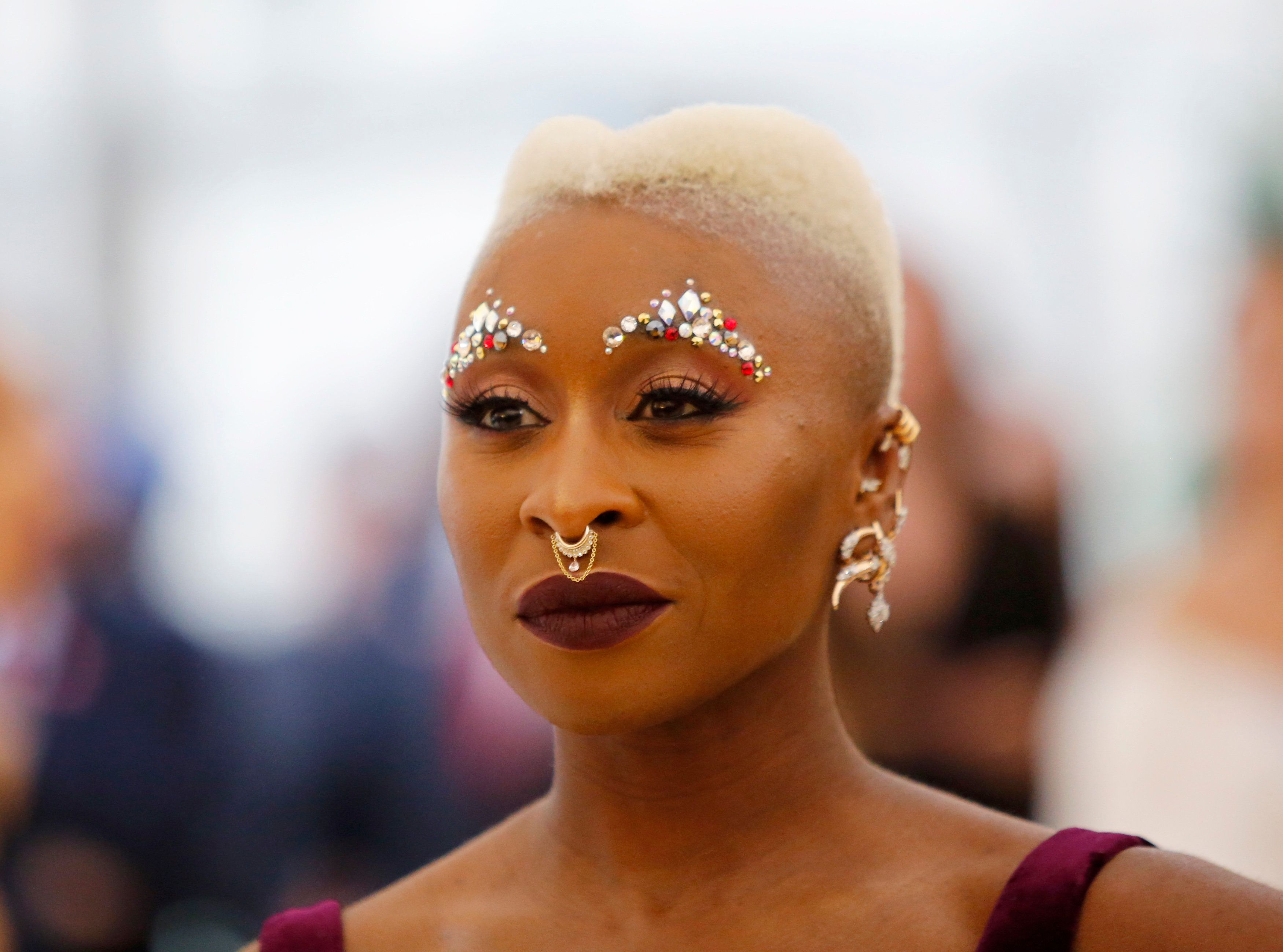 "Actress Cynthia Erivo arrives at the Metropolitan Museum of Art Costume Institute Gala (Met Gala) to celebrate the opening of ""Heavenly Bodies: Fashion and the Catholic Imagination"" in the Manhattan borough of New York, U.S., May 7, 2018. REUTERS/Eduardo Munoz"