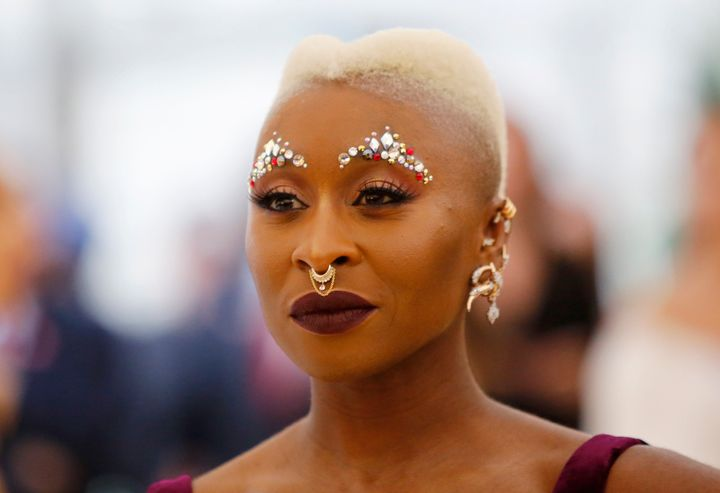 British actress Cynthia Erivo attends the 2018 Met Gala in New York City on May 7.