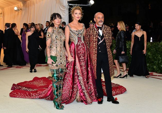 Reed Morano, Blake Lively and Christian Louboutin attends the Met