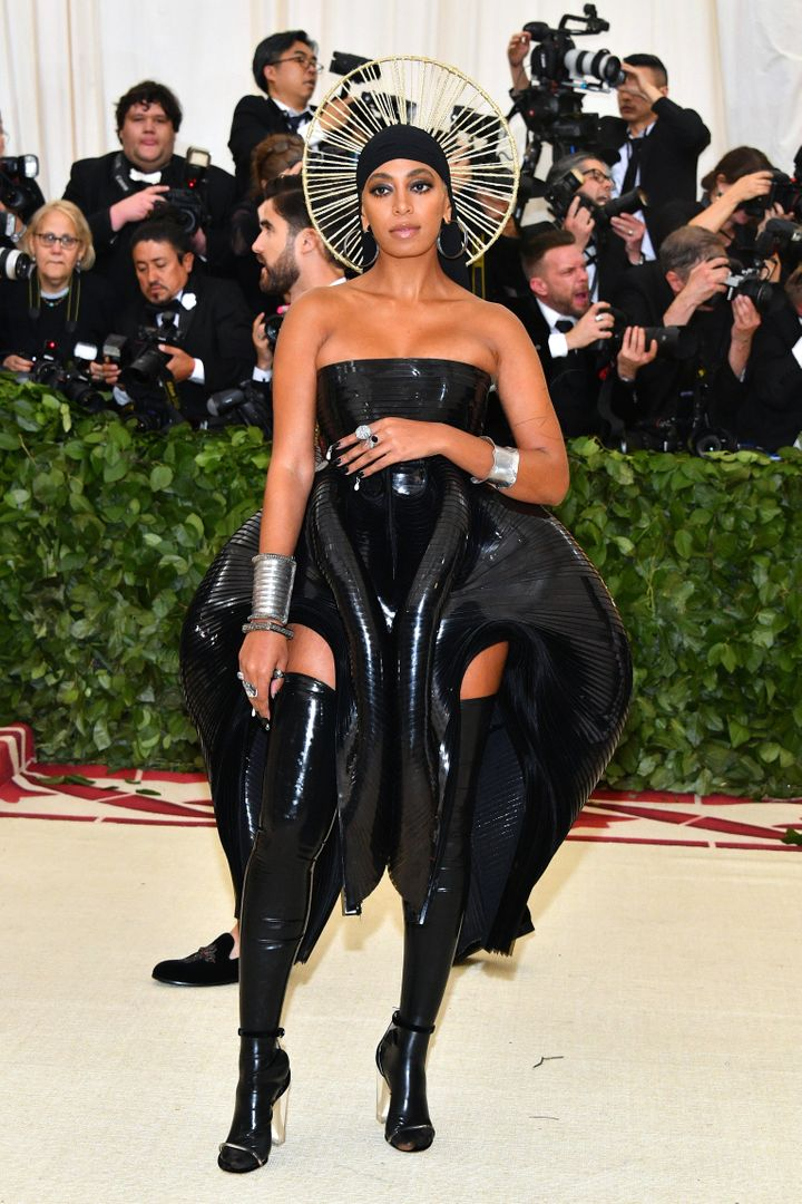 "Solange attends the ""Heavenly Bodies: Fashion & The Catholic Imagination"" Costume Institute Gala on May 7."