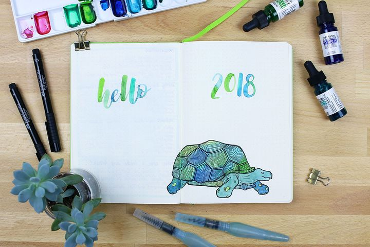 Remember your bullet journal is a place to draw and experiment, not just to plan and organise.