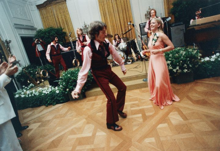 Susan Ford dancing at her prom in the East Room of the White House.