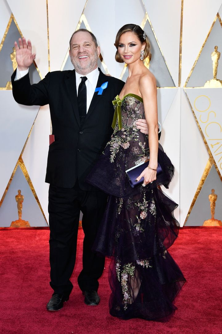 Harvey Weinstein and Georgina Chapman attend the Academy Awards on Feb. 26, 2017.