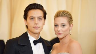NEW YORK, NY - MAY 07:  Cole Sprouse and Lili Reinhart attend the Heavenly Bodies: Fashion & The Catholic Imagination Costume Institute Gala at The Metropolitan Museum of Art on May 7, 2018 in New York City.  (Photo by Matt Winkelmeyer/MG18/Getty Images for The Met Museum/Vogue)