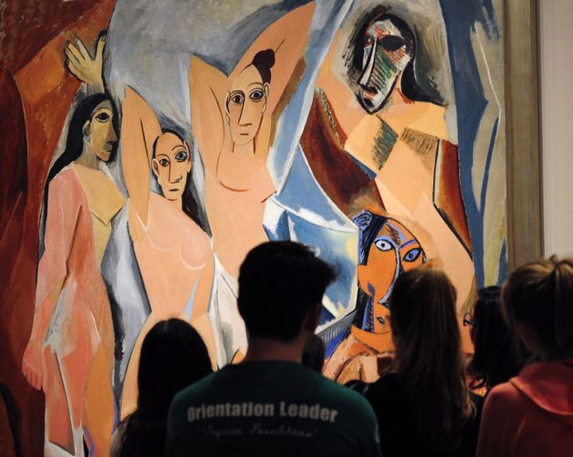 """Picasso's 1907 """"Demoiselles d'Avignon"""" at the Museum of Modern Art in New"""