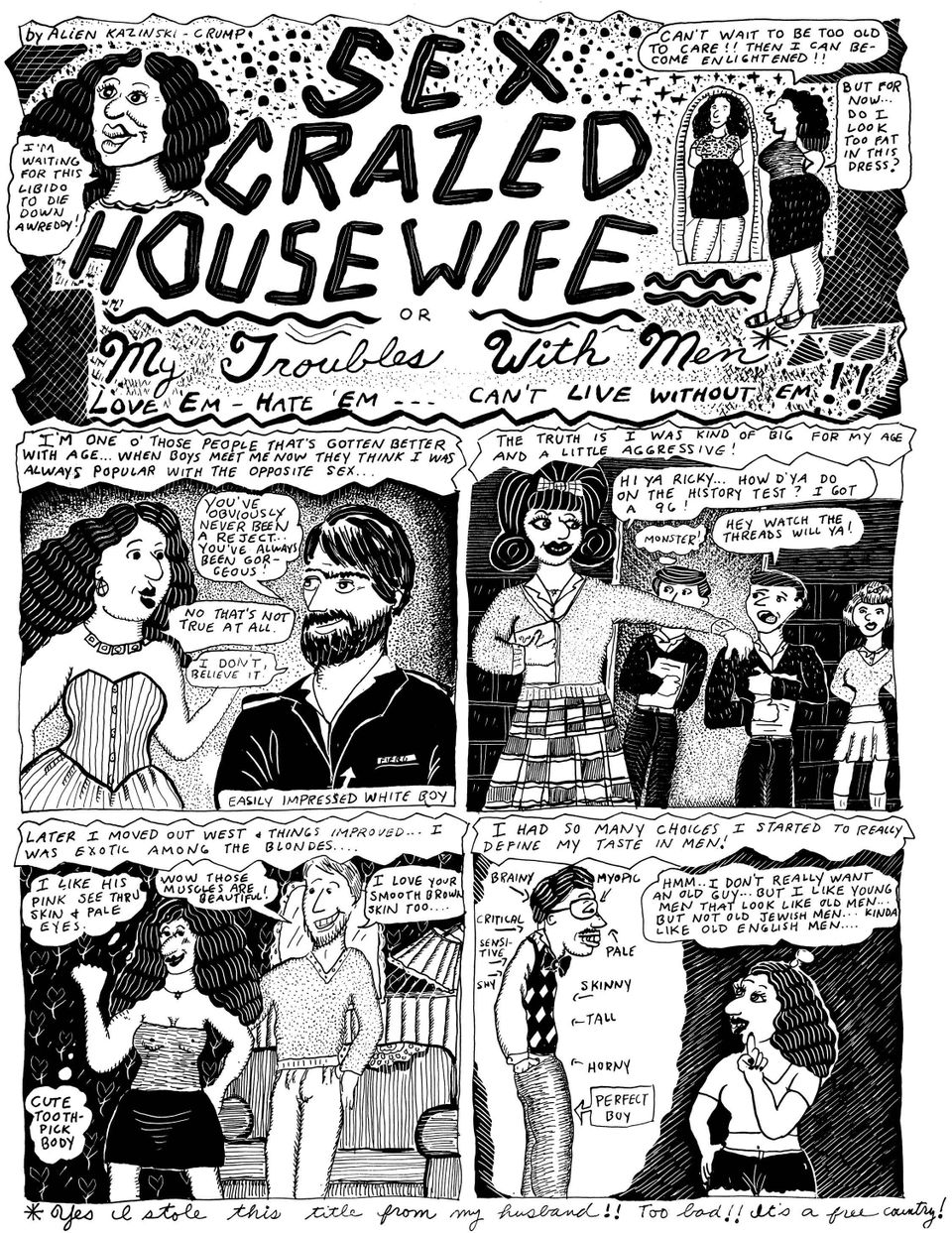Aline Kominsky-Crumb Is A Horny, Abject Comic