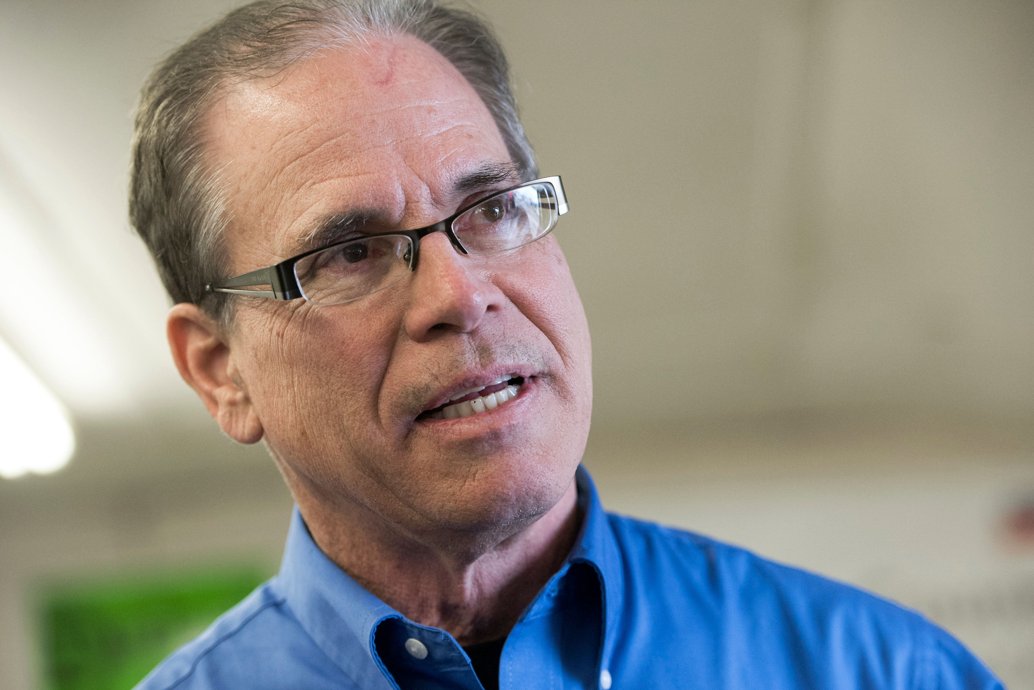 UNITED STATES - APRIL 4: Mike Braun, who is running for the Republican nomination for Senate in Indiana, attends the Kosciusko County Republican Fish Fry in Warsaw, Ind., on April 4, 2018. (Photo By Tom Williams/CQ Roll Call)