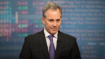 Eric Schneiderman, attorney general of New York, listens during a Bloomberg Television interview in New York, U.S., on Wednesday, Feb. 8, 2017. Schneiderman explained the concept of 'sanctuary cities' in the United States and discussed President Donald Trump's threat to cut funding for those cities to punish their stances on immigration. Photographer: Kholood Eid/Bloomberg via Getty Images