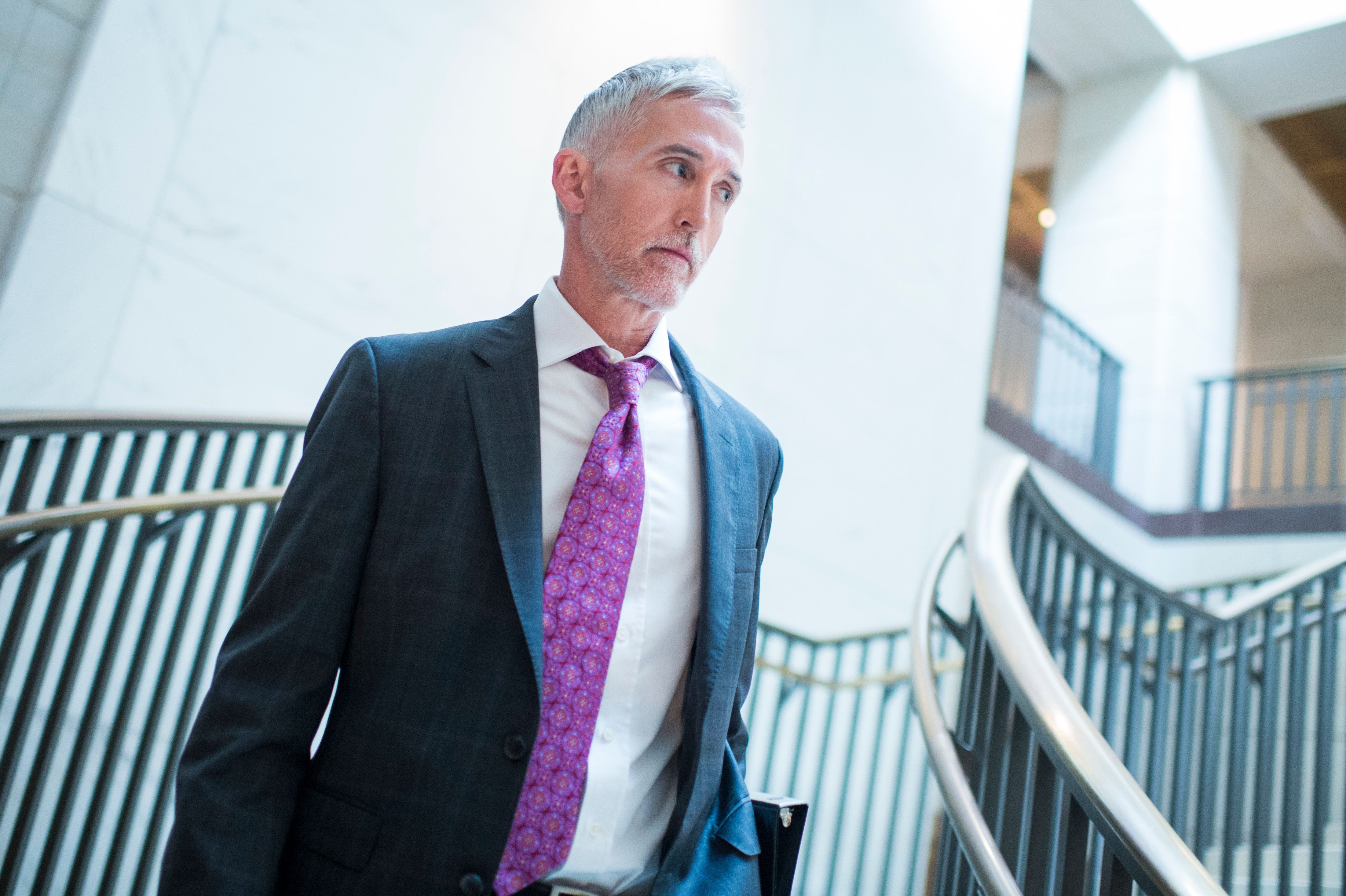 Rep. Trey Gowdy (R-S.C.) arrives for a House Intelligence Committee on July 25, 2017.