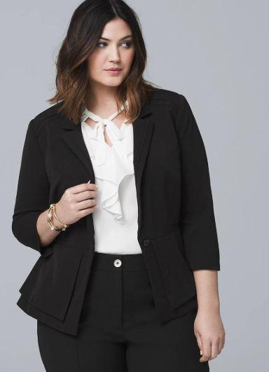 Busy Black Stripe Ladies Suit Jacket