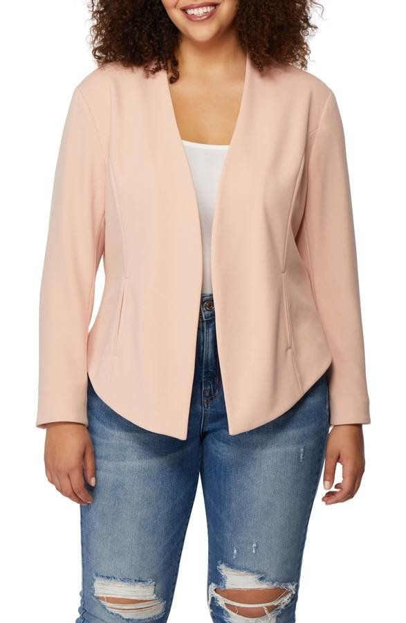 "<strong>Sizes</strong>: 0X to 3X<br>Get it <a href=""https://shop.nordstrom.com/s/rebel-wilson-x-angels-open-front-blazer-plus"