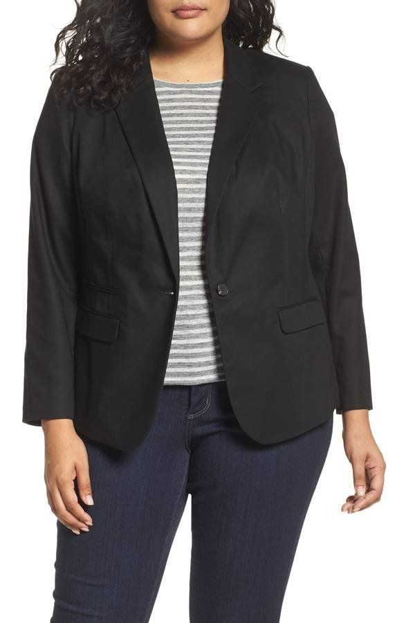 "<strong>Sizes</strong>: 18W to 24W<br>Get it <a href=""https://shop.nordstrom.com/s/vince-camuto-one-button-blazer-plus-size/3"