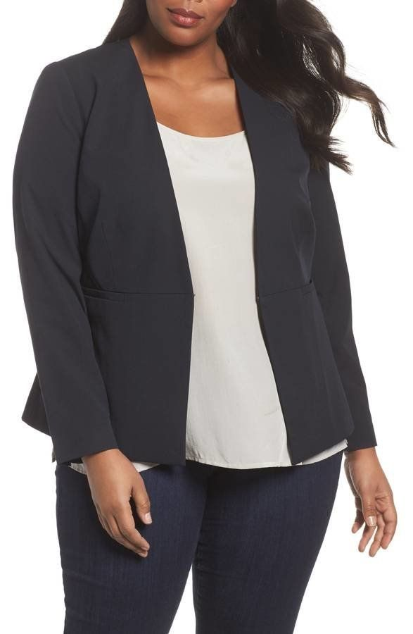 "<strong>Sizes</strong>: 14W to 24W<br>Get it <a href=""https://shop.nordstrom.com/s/sejour-riley-jacket-plus-size/4752945?orig"