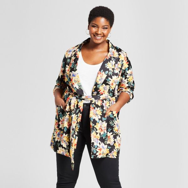 "<strong>Sizes</strong>: X to 4X<br>Get it <a href=""https://www.target.com/p/women-s-plus-size-floral-print-blazer-ava-viv-153"