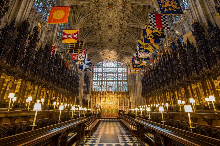 A look inside St. George's Chapel at Windsor Castle.