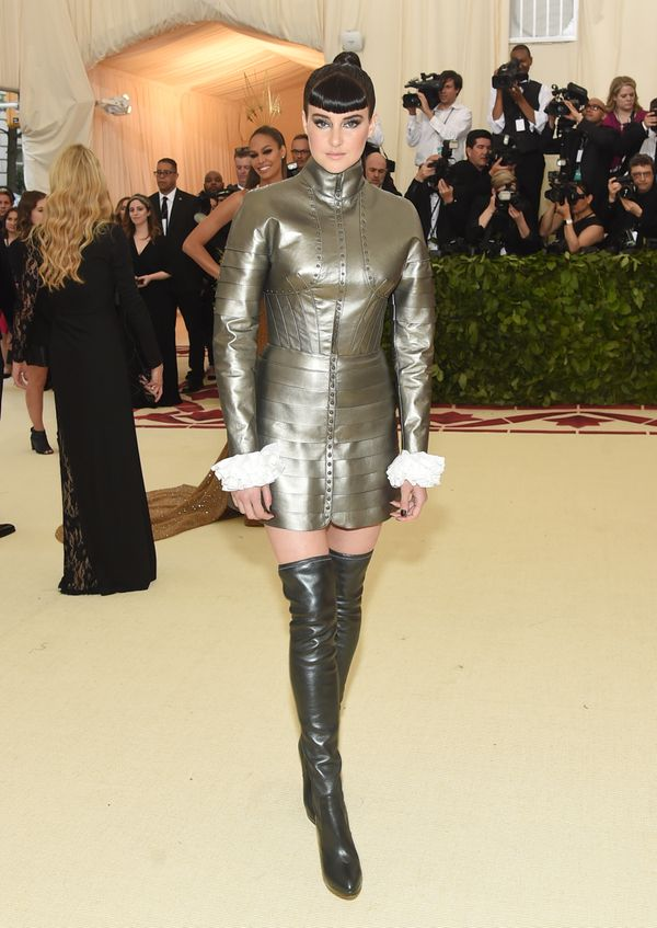 Actress Shailene Woodley also appeared to channel Joan of Arc for the gala.