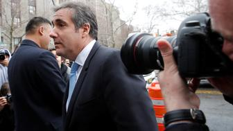 U.S. President Donald Trump's personal lawyer Michael Cohen arrives at federal court in the Manhattan borough of New York City, New York, U.S., April 16, 2018. REUTERS/Mike Segar