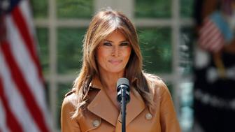 U.S. first lady Melania Trump delivers remarks at the launch of her Be Best initiatives in the Rose Garden of the White House in Washington, U.S., May 7, 2018. REUTERS/Kevin Lamarque