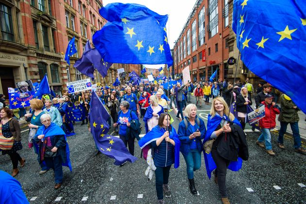 An anti-Brexit march in Manchester last