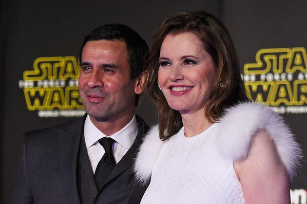 Reza Jarrahy and Geena Davis, pictured in 2015, have three teenaged