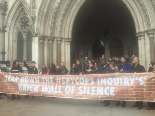 Core participants in the inquiry walked out in March before protesting outside the
