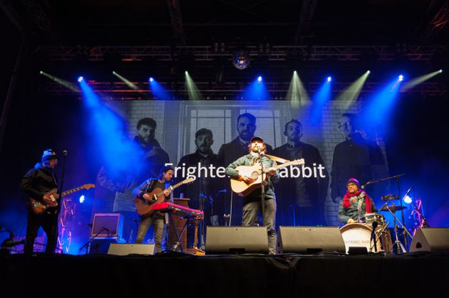 Frightened Rabbit on stage in December