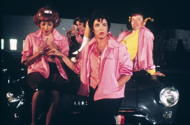 Didi with the rest of the Pink Ladies in