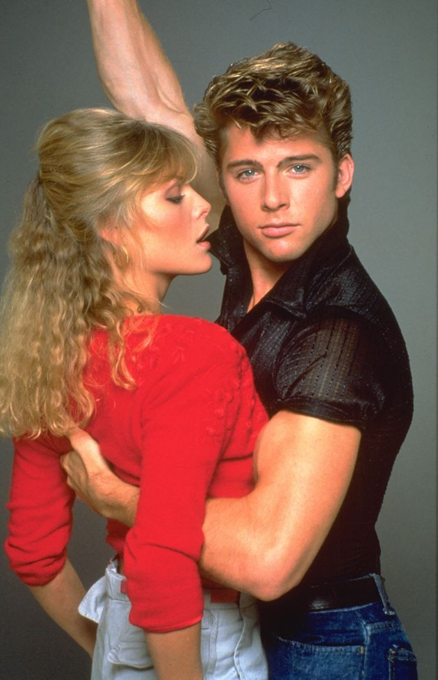 Michelle Pfeiffer and Maxwell Caulfield in 'Grease
