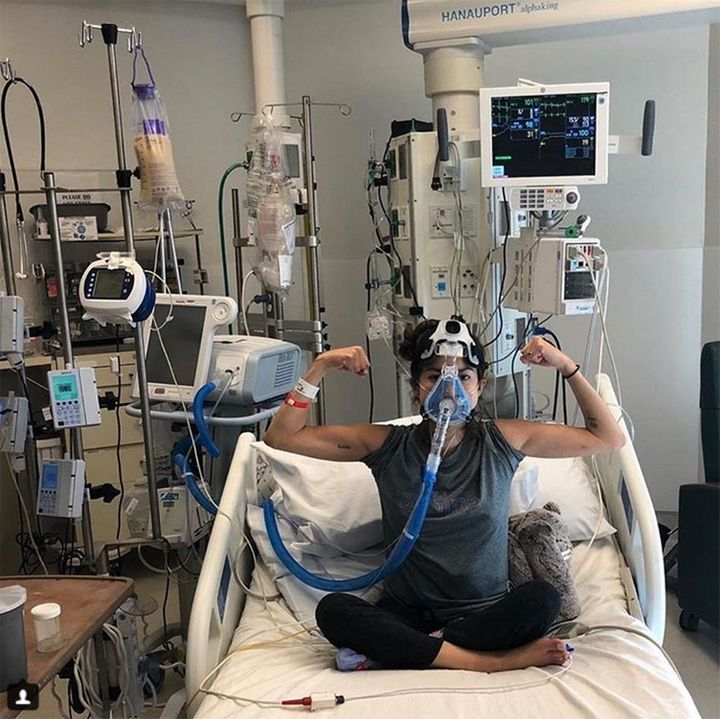 "Haber chronicles her life with&nbsp;a lung transplant on her Instagram account, <a href=""https://www.instagram.com/fight2brea"