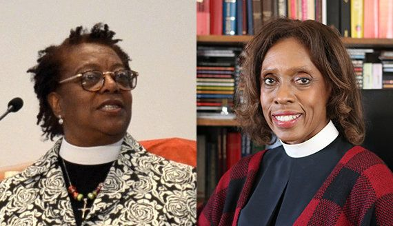 The Rev. Patricia A. Davenport (left) and Rev. Viviane Thomas-Breitfeld are the first African-American women bishops of