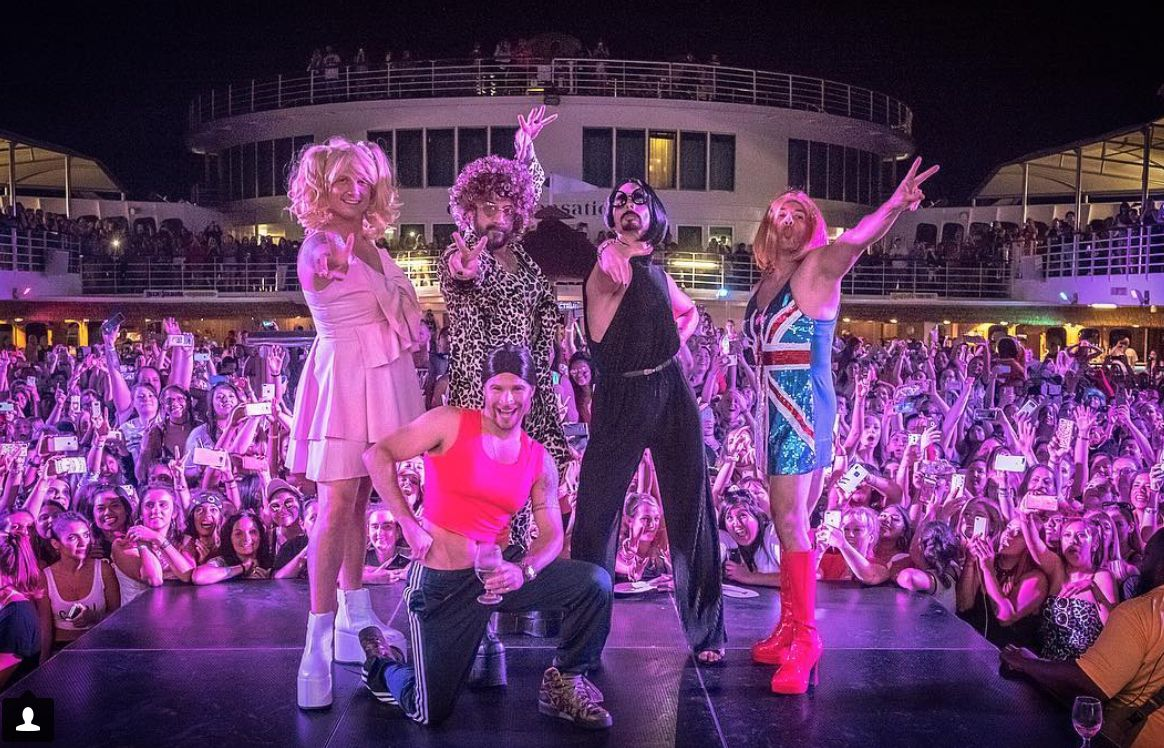 The Backstreet Boys Dressed As the Spice Girls Are Larger Than