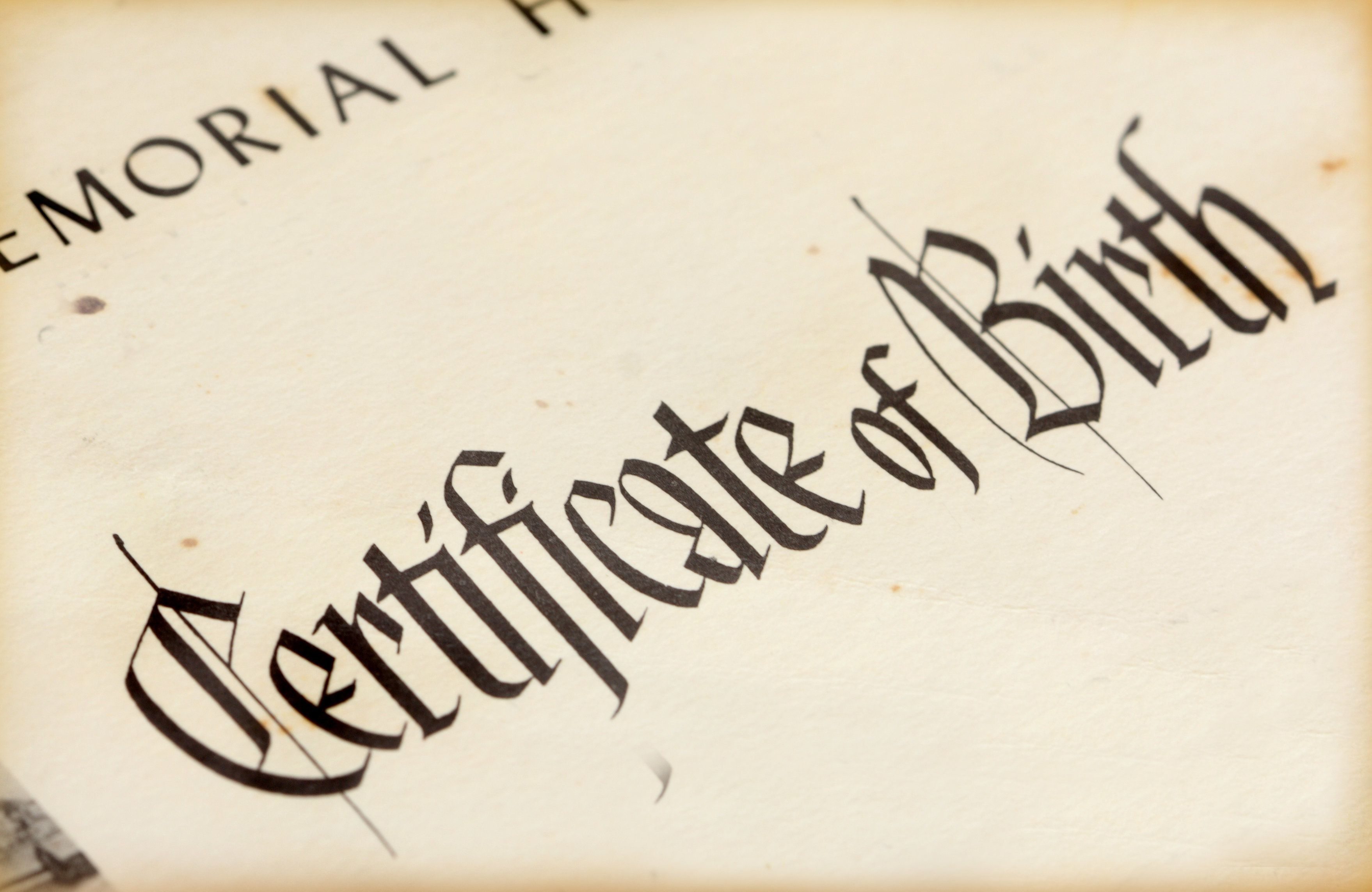Older Birth Certificate