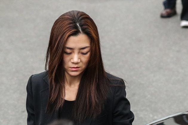 조현민 전 대한항공 전무(35)가 1일 오전 서울 강서경찰서에서 피의자 신분으로 출석하고