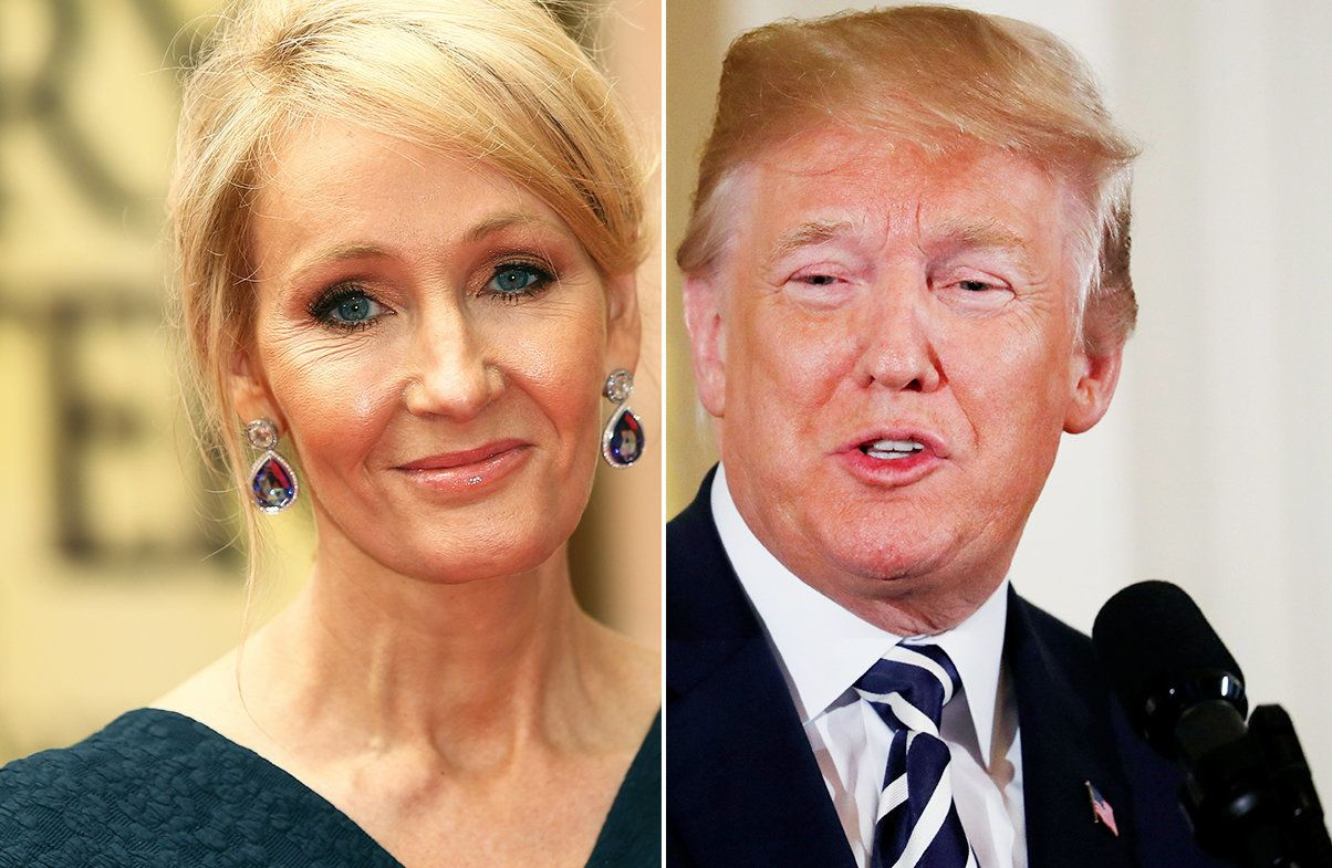 JK Rowling Takes Jab At Trump For His Abnormally Large Signature