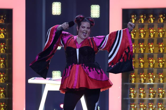 Netta rehearses for the Eurovision