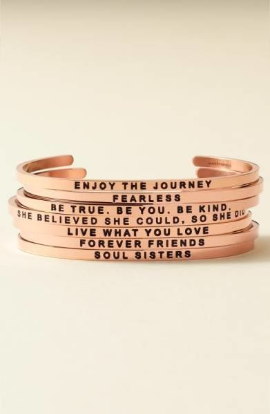 "Get them an inspirational bracelet to look at whenever they're experiencing those weird post-grad feels. Get it at <a href=""h"