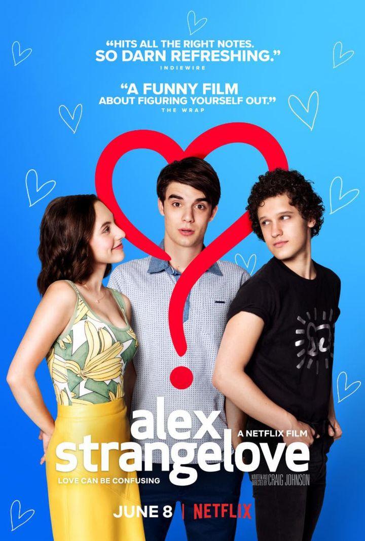 """Netflix's """"Alex Strangelove"""" finds a suburban teen caught between a girlfriend and a new gay pal."""