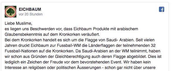 Brauerei bedruckt Bier mit Saudi-Flagge – nun entschuldigt sie sich bei