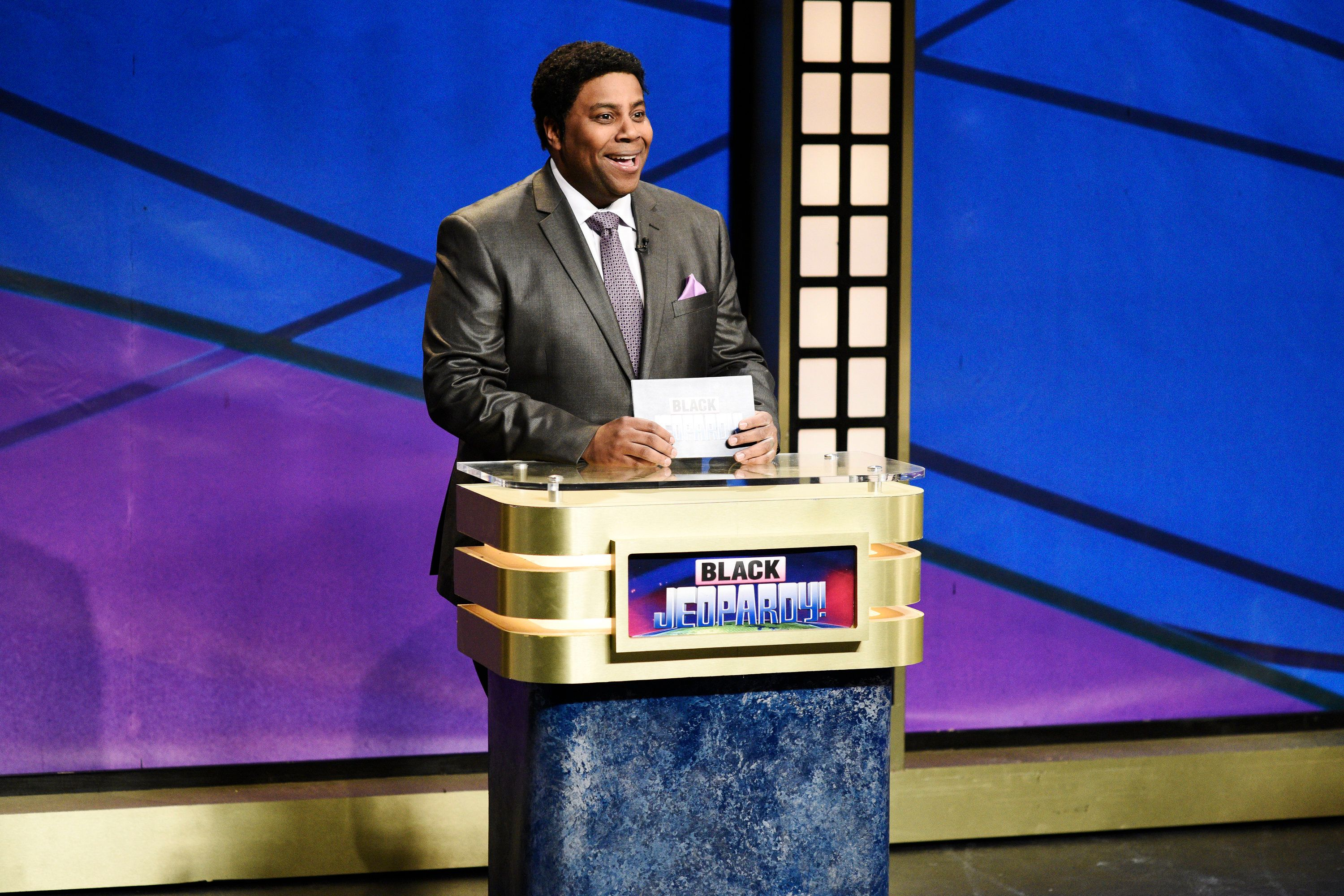 SATURDAY NIGHT LIVE -- Episode 1742 'Chadwick Boseman' -- Pictured: Kenan Thompson as Darnell Hayes during 'Black Jeopardy' in Studio 8H on Saturday, April 7, 2018 -- (Photo by: Will Heath/NBC/NBCU Photo Bank via Getty Images)