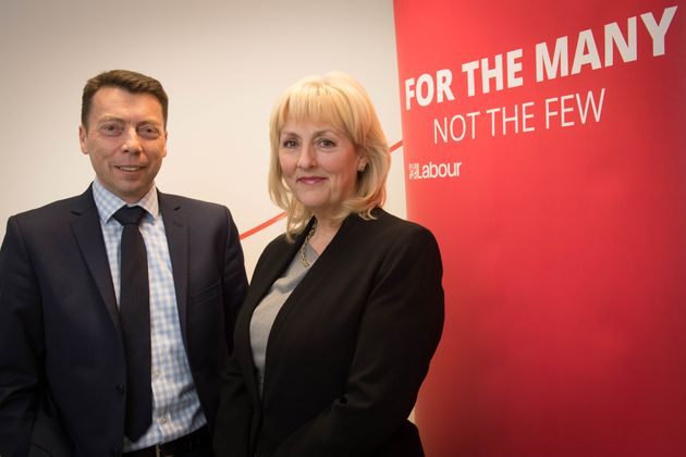 Former Labour general secretary Iain McNicol and his successor Jennie