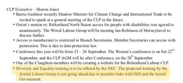 A motion passed by a local Labour