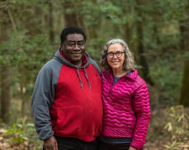 Environmentalist, pastor and nonprofit leader, Rev. Leo Woodberry, with Dogwood Alliance Founder and Executive Director Danna